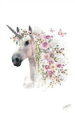 Summer Thonrton - Unicorn POSTER 61x91cm magical horse flowers butterfly