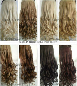 """UK SELLER Clip In Hair Extension Synthetic 22"""" 1pc Thick Long Like Human Hair"""