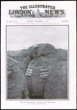 1916 antica stampa fronte occidentale Sentinella Orologio gourlay TRINCEA GORDON Alley (202)
