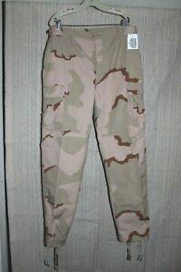 US Military Combat Trousers Military BDU Pants Desert Camo Sz Medium Long Storm