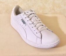 5972680ff7d4 Women Puma Vikky Soft Foam Leather Lace Up Sneaker White Gray 362874-02 Size