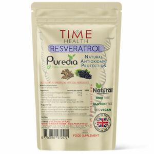 Time Health Trans Resveratrol - 180 Capsules - Super Antioxidant - Pullulan
