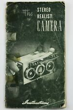 190880 Stereo Realist Genuine Original User Instruction Manual Booklet