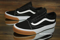 Vans Old Skool (Gum Bumper) Black True White Skate Shoes Men's - Multi Size