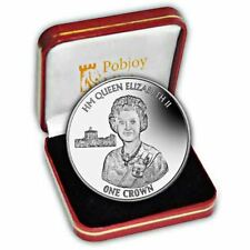 More details for falkland islands 2016 90th birthday proof silver jubilee portrait silver coin