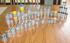 Vintage lot  45 Kodak Film 35mm & others aluminum cannisters