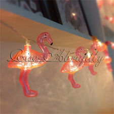 10Pcs Set Flamingo LED String Light Party Decoration Fairy Lights AA Battery