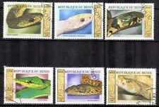 Animaux Serpents Bénin (30) série complète 6 timbres oblitérés