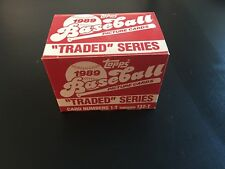 1989 Topps Traded Baseball Complete Series - Factory New
