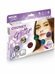 Moon Glitter Classic Chunky Glitter, Assorted., Facepaint/Party Makeup