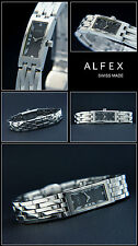 Narrow Alfex Designer Women's Watch Swiss Made Complete Stainless Steel