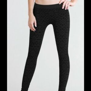 NEW Charcoal Gray Pattern Ultra Soft and Stretchy Leggings by Nikibiki