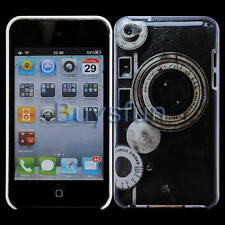Black Classic Camera Hard Cover Case Skin for Apple iPod Touch 4 4G