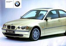 2001 BMW 316TI 325TI COMPACT BETRIEBSANLEITUNG NOTICE D'UTILISATION FRANZOSISCH