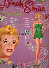 Vintage Uncut 1954 Dinah Shore Paper Dolls~#1 Reproduction~Fabulous & Nostalgic