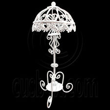 White Victoria Wire Floor Lamp Light Decor 1:12 Doll's House Dollhouse Miniature
