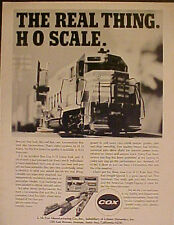 1971 Cox Model Railroad~Locomotives Kids Toy HO Trains Set The Real Thing AD