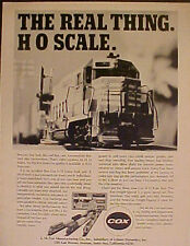 1971 Cox Model Railroad~Locomotives HO Trains Set Memorabilia  Promo AD