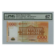*jcr_m* MACAU MACAO 1000 PATACAS BANK OF CHINA 2008 P.113 MS-67 *UNCIRCULATED*