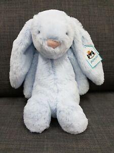 Kids Soft Toy - Jellycat Bashful Blue Bunny 31CM- Baby Kids Christmas Present!