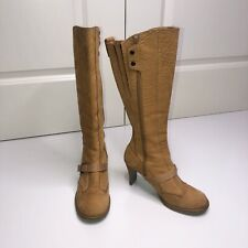 Diesel Tan Leather Betty Boots