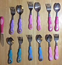 6 Sets Fork Spoon Mixed Characters Stainless Utensils Dora Hello Kitty Princess