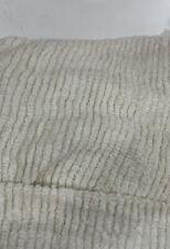 "Vtg 2.22yard Cream Chenille ribbed Cotton Fabric Craft Quilt 52"" x 80"""