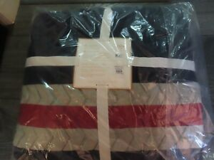 POTTERY BARN TEEN Blake Stripe Quilt~FULL/QUEEN~NEW W/ TAGS-HARD TO FIND