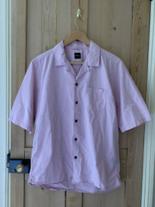 Albam short sleeve camp collar shirt medium pink