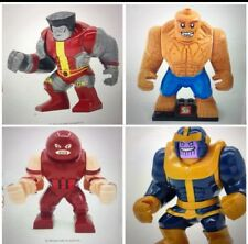 Large Marvel Character Building Figures: The thing, Colossus, Juggernaut, Thanos