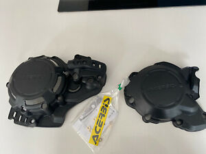 ACERBIS X POWER ENGINE CASING GUARDS COVERS BLACK - KTM EXC 250/300 2020 2021