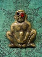 Mini magic yantra war bull ox thai rare amulet protection win rich lucky gamble