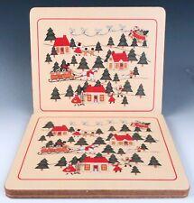 4 Christmas Village Marsten-Mandrajji Placemats Lady Clare Vintage Mason's Santa