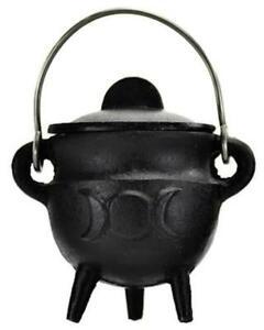 Small TRIPLE MOON Pot Belly Lidded Cauldron!