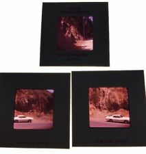 Vintage Photo Color Slides Lot Of 3 60's Muscle Car By Cliff