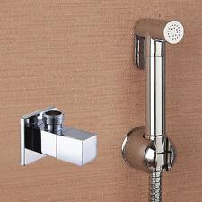 Brass Douche Shattaf Kit Bidet Toilet Sprayer Shut off Valve + Shower Muslim Set