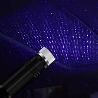 USB Car Atmosphere Lamp Interior Ambient Star Light LED Starry Projector Sky ES
