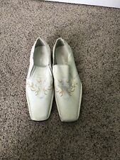 Vintage Mens White faux Leather Loafer Size 9M Man-made Materials