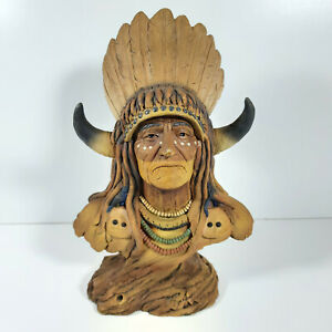 Original Neil J. Rose Native American Sunset Bust Limited Edition 0373/2500