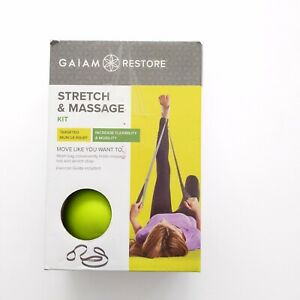 Gaiam Restore Stretch And Massage Kit Targeted Muscle Relief