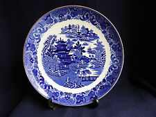 RARE Vintage Copeland Plate | Two Temples | 1850-90 | Spode Blue White Willow