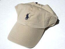 NEW! Beige-Black POLO Men-Women's Golf Ralph Lauren Classic Sport Day Cap