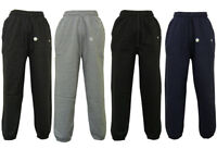 New Mens Elasticated Cotton Cuffed Tracksuit Bottoms Gym Joggers Pants Trousers
