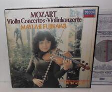 D239D 4 Mozart Violin Concertos Mayumi Fujikawa RPO Walter Weller 4LP Box Set