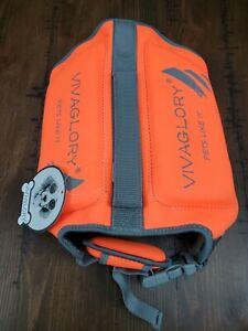 Vivaglory Dog Life Jacket Pet Safety Orange Size M