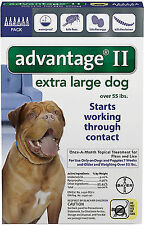 Bayer Advantage II Extra Large For Dogs Over 55 lbs. lb ( 6 Pack ) USA EPA