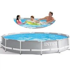 Intex, Prism Frame Premium Pool Set w/ Filter Pump & Filter Cartridge,10' x 30""