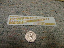 Herald King decals HO Medford and Indian Mills Railroad dulux   ZZ311