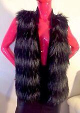 Ellen Tracy Chic Faux Fur Vest, Black&White Size: M(check measurements) EUC