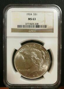 US Peace Dollar 1924 - NGC MS63